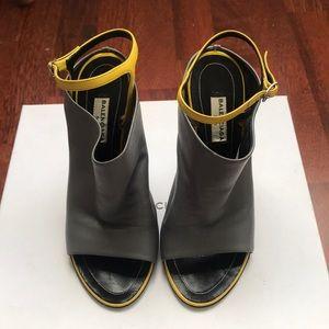 Leather Glove Bootie heels